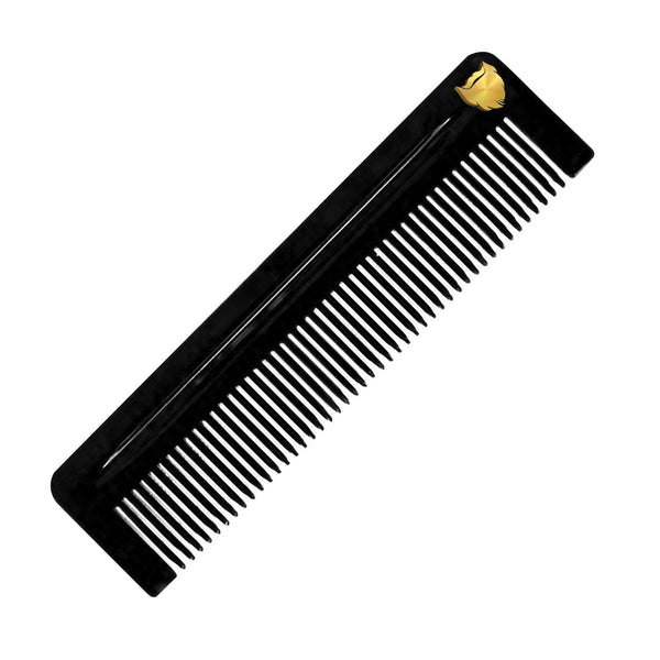 Black Acetate Beard Comb