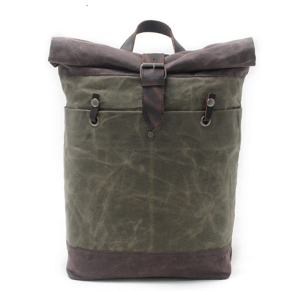 Green Dopp Roll Top Backpack - The Rugged Beard Company