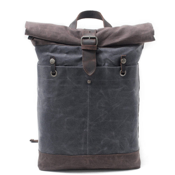 Grey Dopp Roll Top Backpack - The Rugged Beard Company