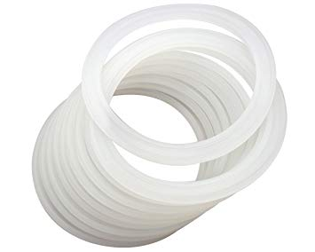 SILICONE GASKETS <BR>Replacement Gaskets for Mason Jars, Wide-Mouth <BR> (16-Pack)