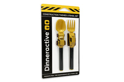 Construction Themed<BR>Utensil Sets for Kids<BR>(2-Piece Set)