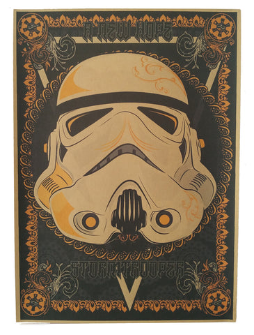 Mask - Star wars retro poster - vintage wall decals - neli