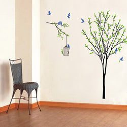 Decorative Tree with Blue Birds - neli