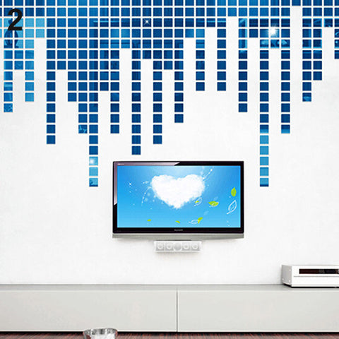 Acrylic 3D Mural Wall Stickers with Mirror Effect - 2x2cm (100 pieces) - neli