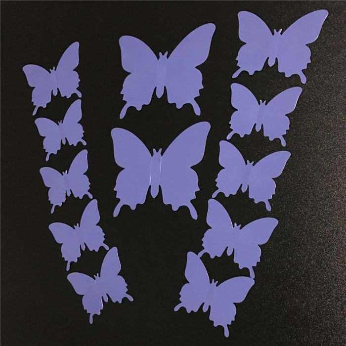 3D Butterflies (12 pieces) - neli
