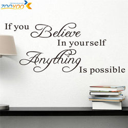 Believe In Yourself Wall Sticker - neli
