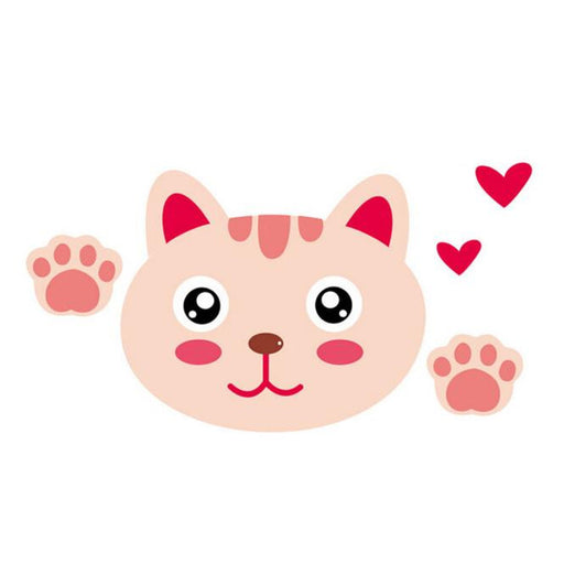 Cute cat decal for kids room