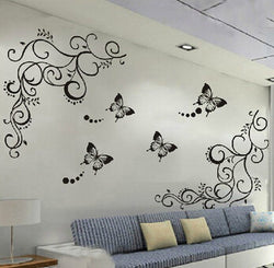 Classic Black Butterfly Wall Stickers - neli