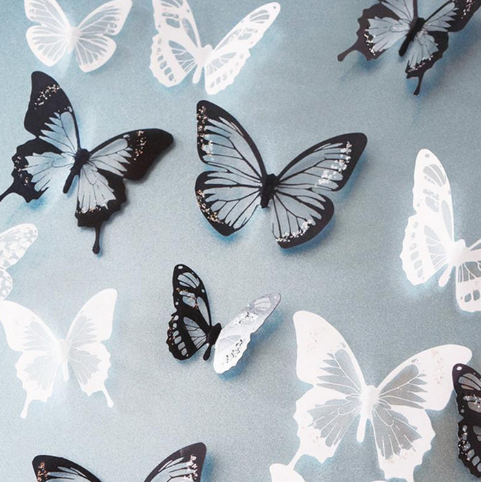 Crystal Butterfly Wall Stickers (16 pieces) - neli