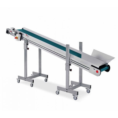 Inclined Conveyor with PU/PVC Belt - Plastics Solutions USA