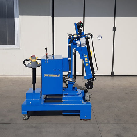 Electric or Semi-Automatic Mini Crane JT450_TR with Rotation for Molds up to 450 kg