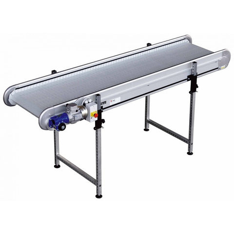 Linear Conveyor with PP/PA Modular Plastic Belt - Plastics Solutions USA