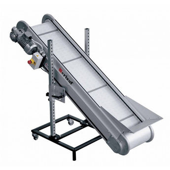 Inclined Conveyor with PP/PA Modular Plastic Belt - Plastics Solutions USA