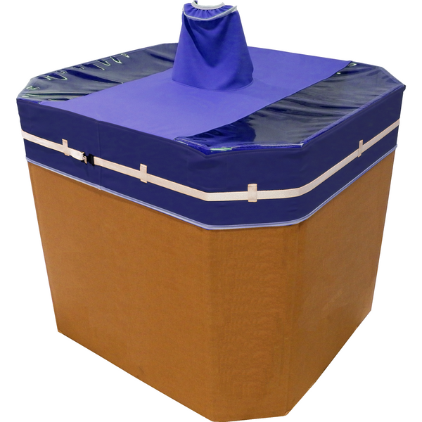 Single Port Octagon Gaylord Cover (Positive Pressure) - Plastics Solutions USA