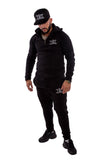 Black Luxury Tracksuit Bottoms
