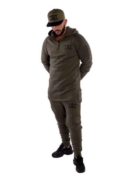 Olive Luxury Tracksuit Top