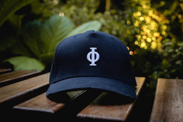 Navy Distressed Cap