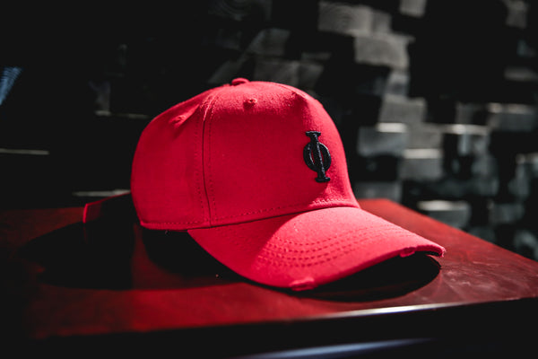 Red Distressed Cap