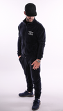 Navy Velour Tracksuit Top