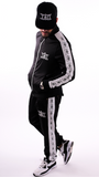 Black/White Casual Tracksuit Bottoms