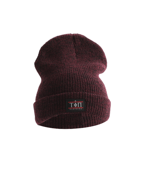 Burgundy Beanie-Time Is Now UK