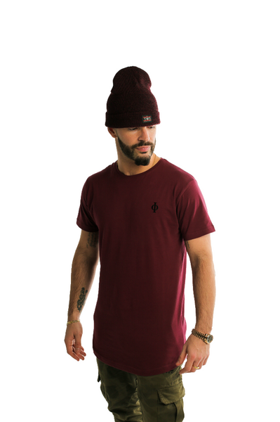 Burgundy T-Shirt-Time Is Now UK