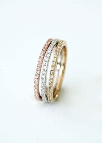 Rose Gold Narrow Stacking Ring