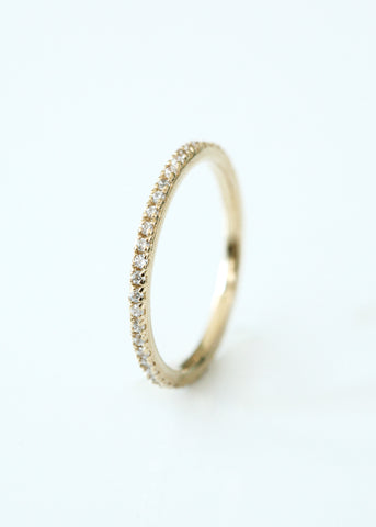 Gold Narrow Stacking Ring