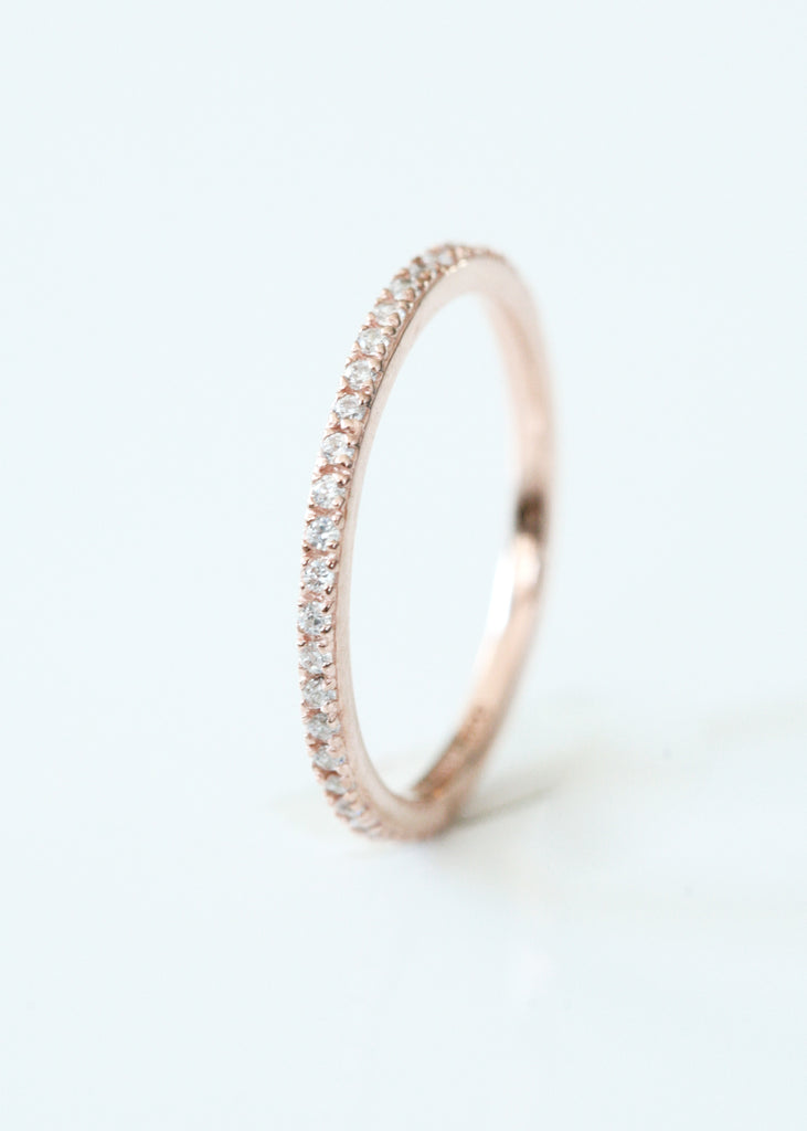 Rose Gold Sparkly Ring