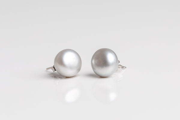 Large Freshwater Pearl Stud Earrings