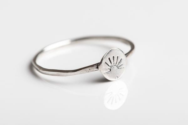 Sterling Silver Sun Ring