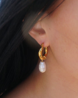 The Jade Chunky Gold Hoop Earrings