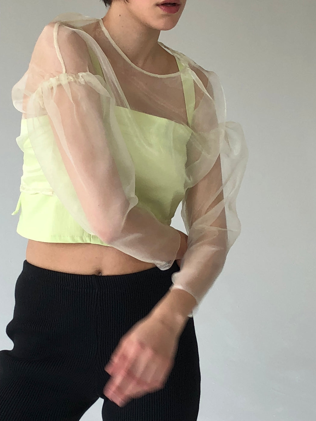Retrograde Organza Top