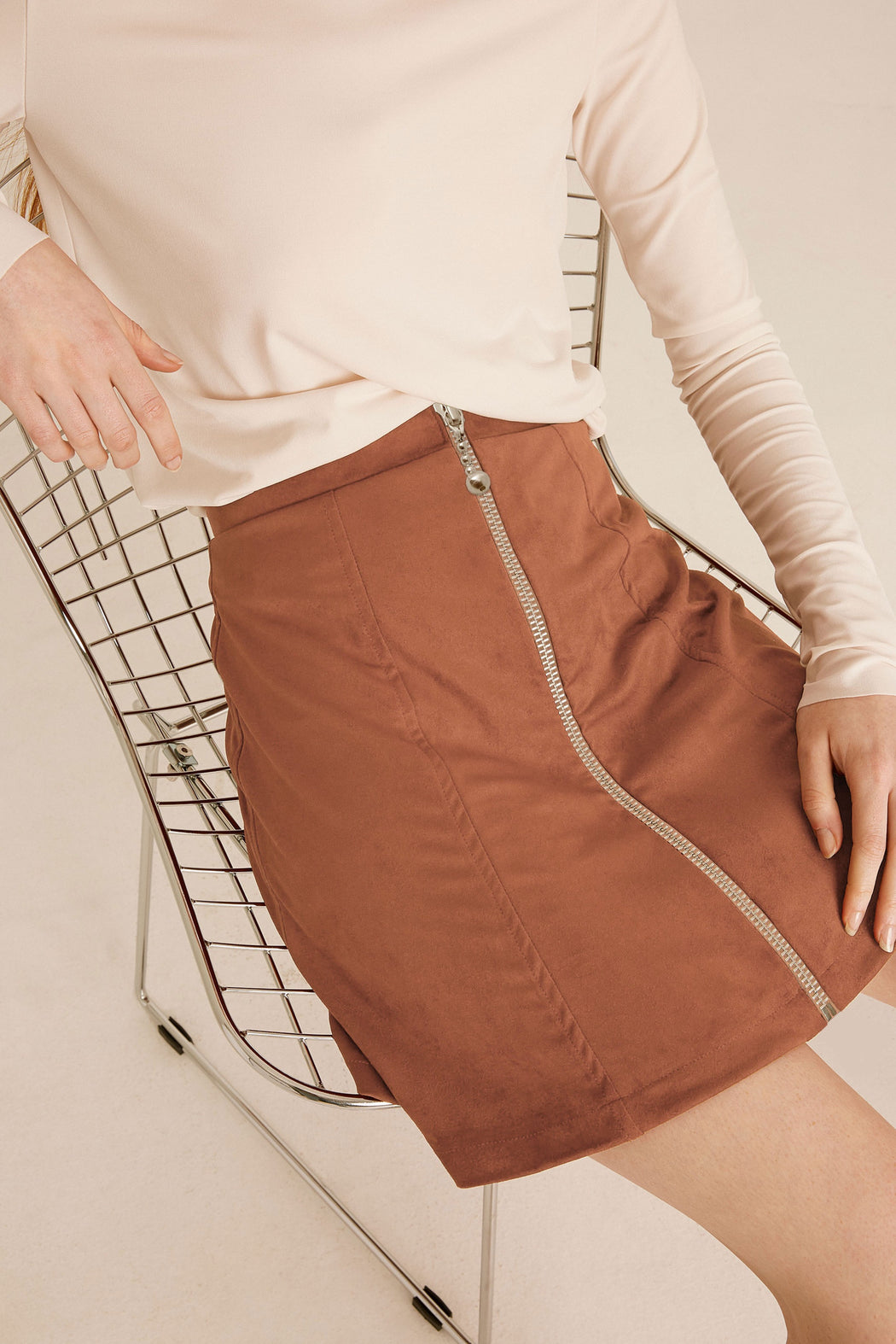 The Stella Micro-Suede Skirt