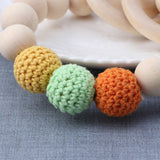 Natural Round Wood Teething Bracelet & Toy