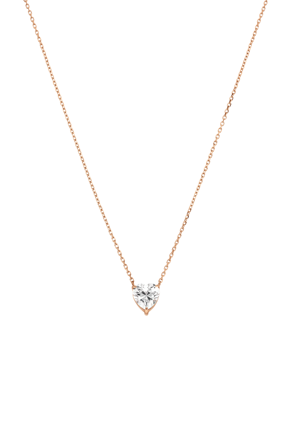 DIAMOND HEART NECKLACE ROSÉGOLD
