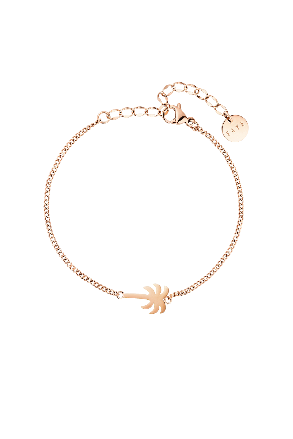 PALM TREE BRACELET ROSÉGOLD