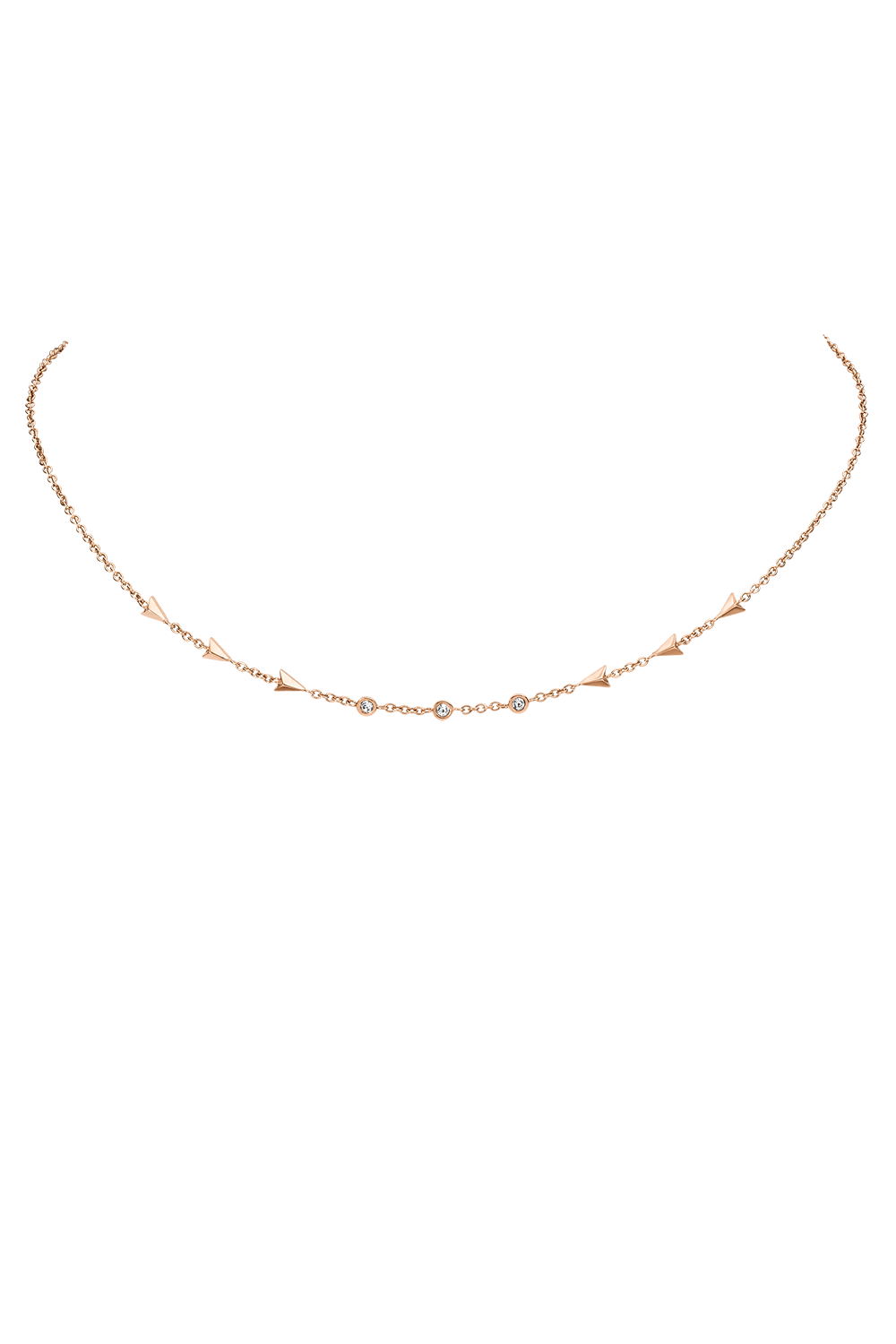ARROW CHOKER ROSÉGOLD