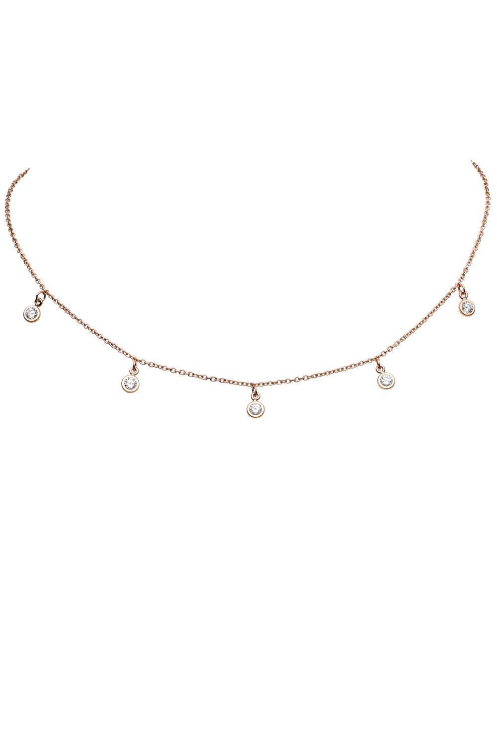 MULTI DIAMOND CHOKER ROSÉGOLD