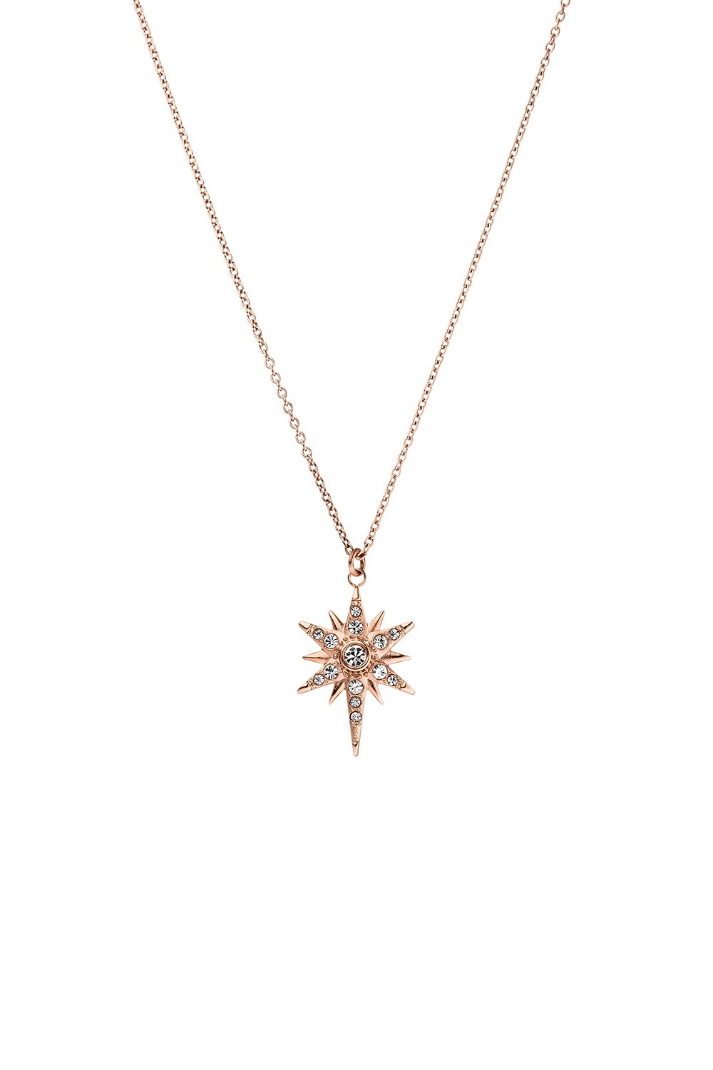 DIAMOND STAR NECKLACE ROSÉGOLD