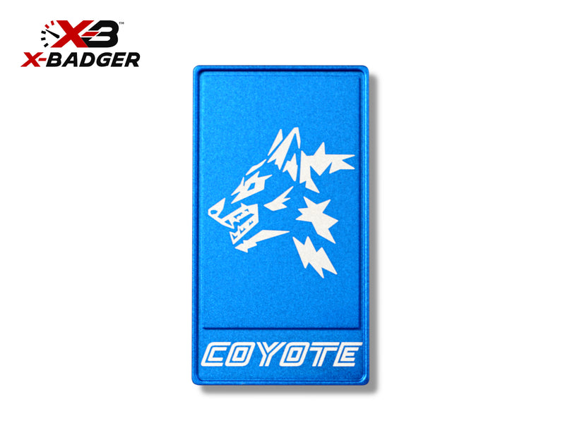 2015-20 Mustang - Alpha Coyote Badge - Billet Aluminum - Blue - X-Badger