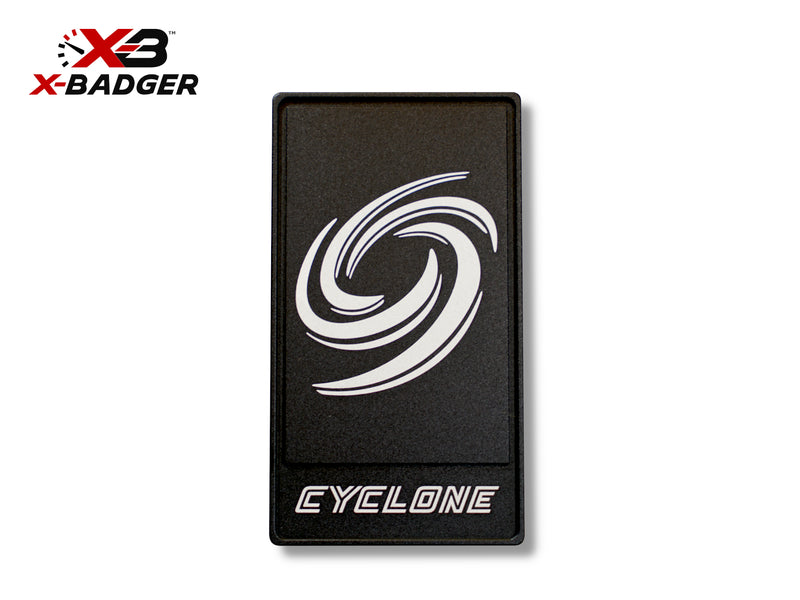 2015-20 Mustang - Alpha Cyclone Badge - Billet Aluminum - Black - X-Badger