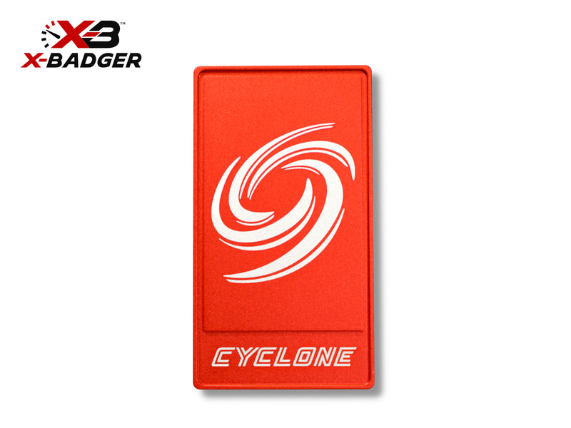 2015-20 Mustang - Alpha Cyclone Badge - Billet Aluminum - Red - X-Badger
