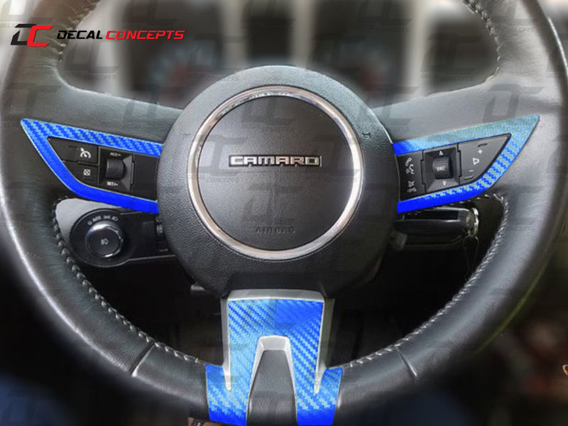 2010-13 Camaro - Steering Wheel Accent Decal Kit - Decal Concepts