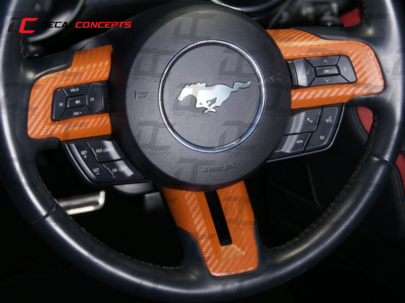 2015-21 Mustang - Steering Wheel Accent Decal Kit - Decal Concepts