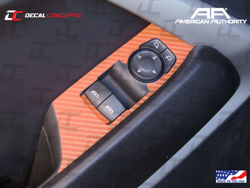 2016-21 Camaro - Door Control Panel Trim Accent Decal Kit - Decal Concepts