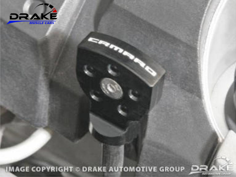 2010-21 Camaro - Oil Dip Stick Handle Cover - Billet Aluminum - Black - Drake Muscle