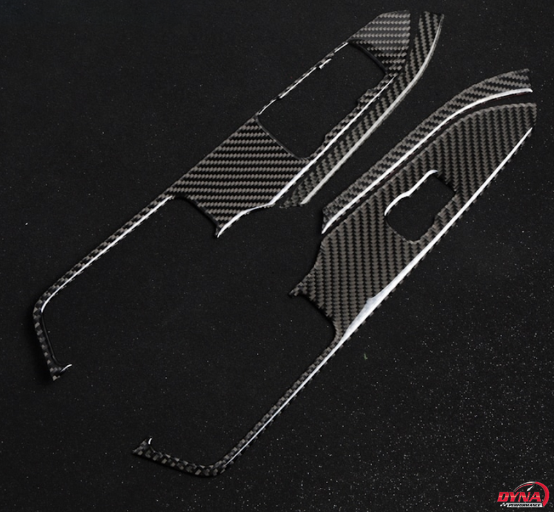 2015-20 Mustang - Window Control Panel Trim Overlay - Carbon Fiber - Dyna Performance