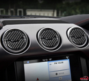 2015-20 Mustang - Mid AC Vent Trim - Carbon Fiber - Dyna Performance