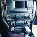 2015-20 Mustang - Multimedia Console Frame Overlay - Carbon Fiber - Dyna Performance